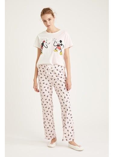 Defacto –Fit Mickey Mouse Lisanslı Pijama Takımı Pembe